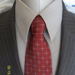 HHR8- Jos A Bank 2Btn Gray Pinstripe Suit